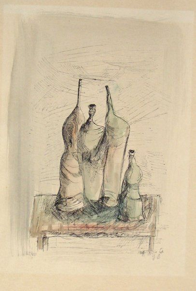 Yosl Bergner Signed No. Hand-Colored Lithograph