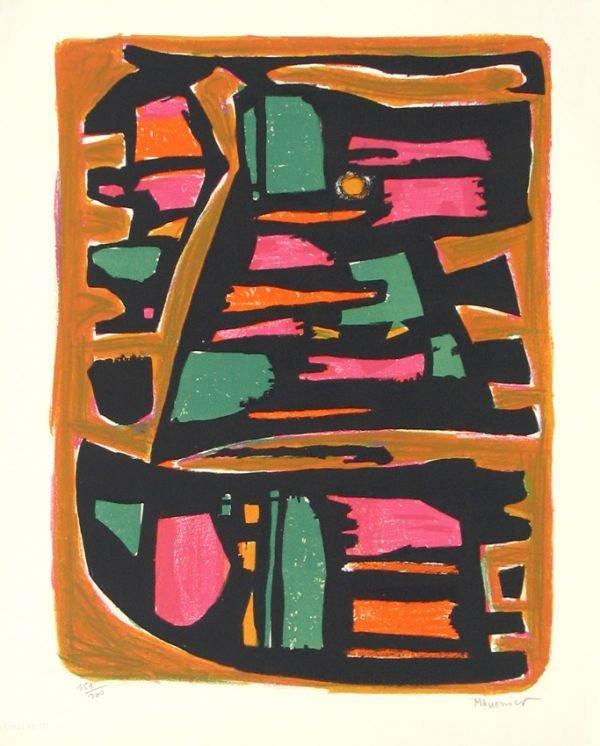 7203: Alfred Manessier Original Signed No. Lithograph