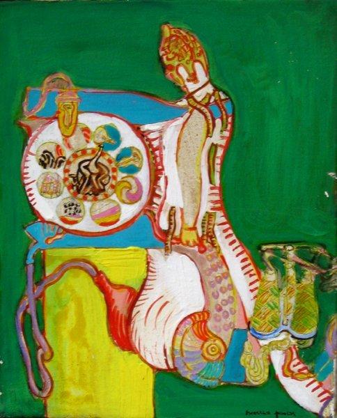 7209: Moreno Pincas Original Oil Painting Israeli Art