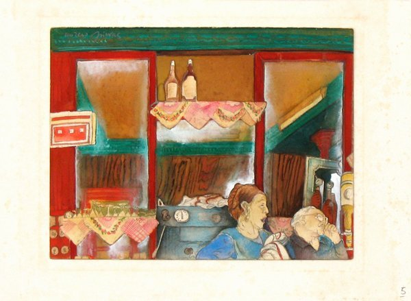 7212: Moreno Pincas Original Watercolor Painting