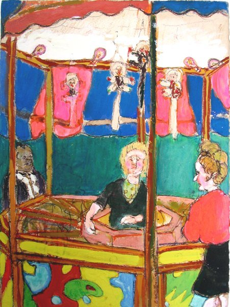 7213: Moreno Pincas Original Pastel Painting Israeli