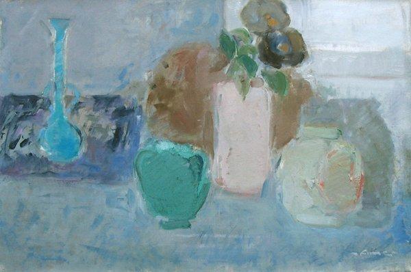 7221: Fima Original Oil painting Israeli/Chinese