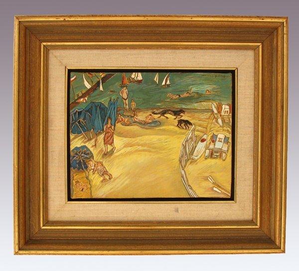 7222: Moreno Pincas Original Oil Painting Israeli Art