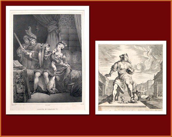 8216: Two Antique Engravings, Late 19th Century