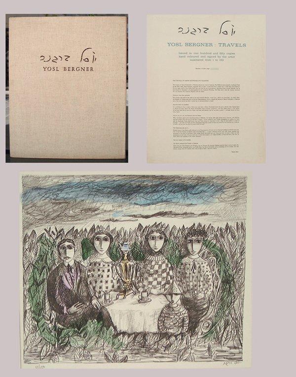 8218: Yosl Bergner Original Hand-colored Lithographs Po