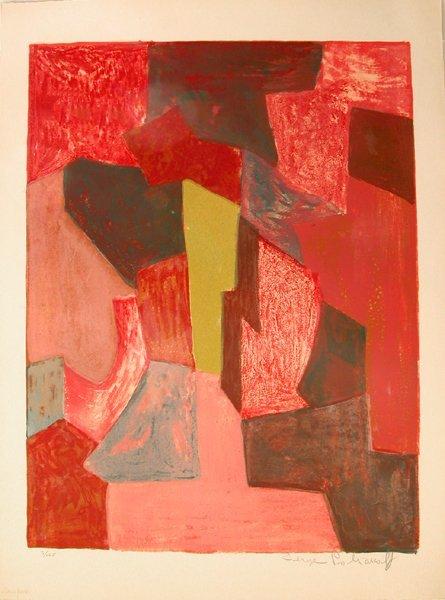 8221: Serge Poliakoff Original Signed No. Lithograph