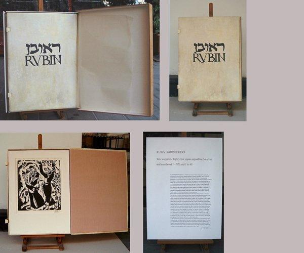 9200: Reuven Rubin Original 10 Woodcuts UniquePortfolio