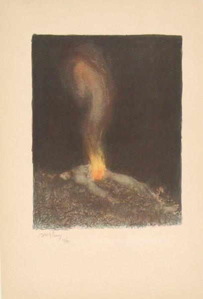 9201: Abel Pann Original Signed No. Litho Genesis