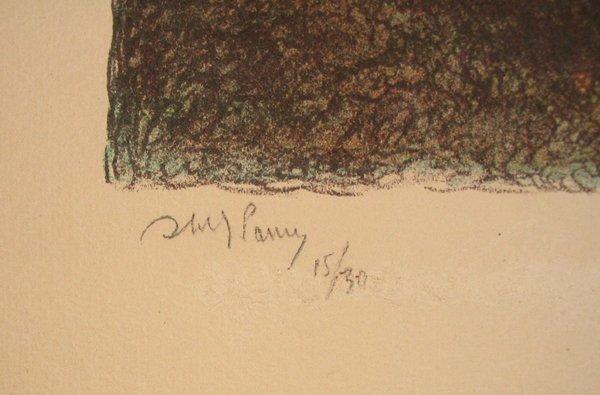9201: Abel Pann Original Signed No. Litho Genesis - 4