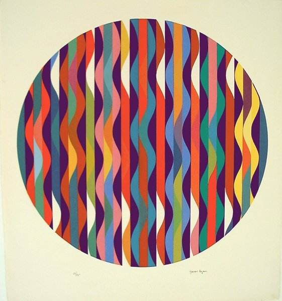 9205: Y.Agam Original Signed No. Silkscreen Kinetic Art