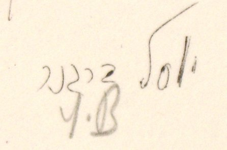 9207: Yosl Bergner Signed No. Hand-Colored Litho - 3