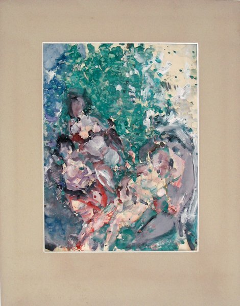 9212: Yankel J. Kikoine Original Gouache Painting