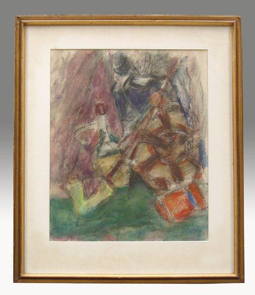9220: Bella Czobel Original pastel Hungarian Art