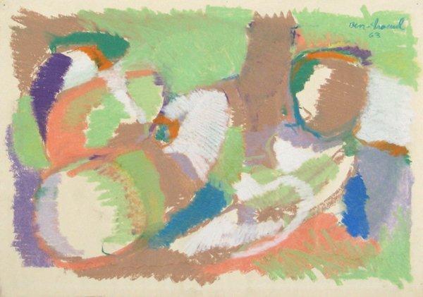 9222: David Ben-Shaul Original Pastel painting