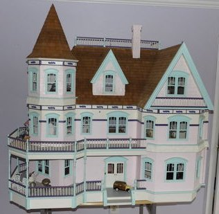 Massive Victorian Furnished Dollhouse