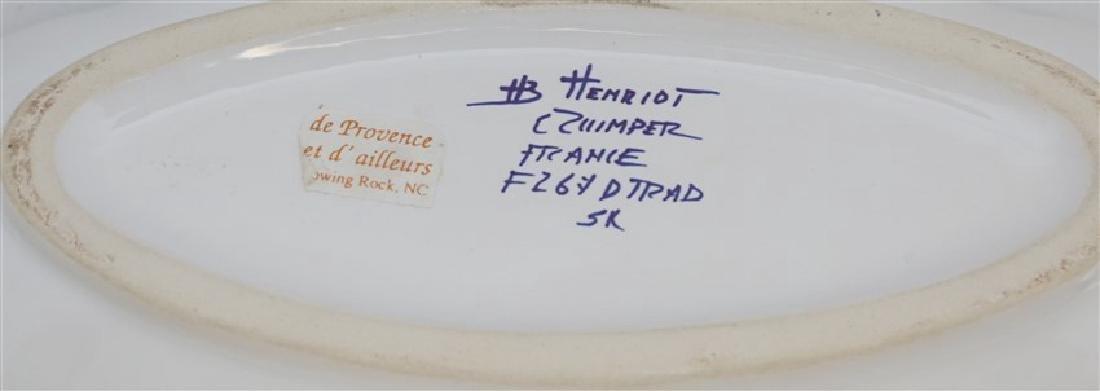 2 PC HENRIOT QUIMPER BRETON MAN FAIENCE - 10