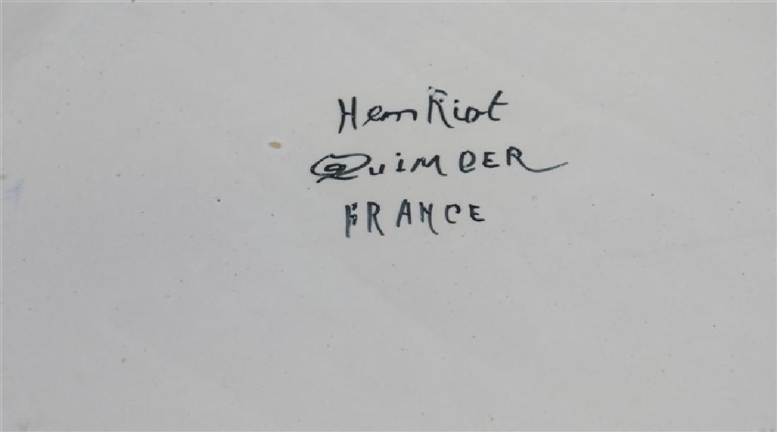 2 PC HENRIOT QUIMPER BRETON MAN FAIENCE - 9