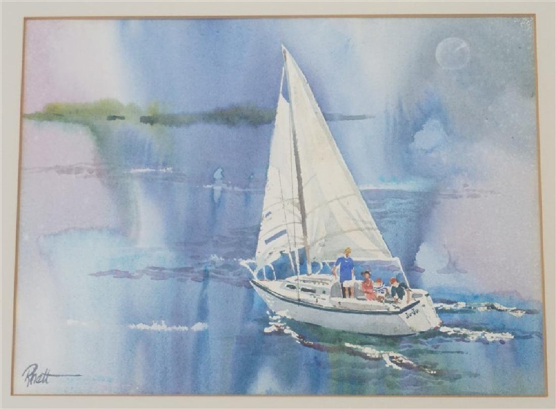 RHETT THURMAN CHARLESTON SAILING WATERCOLOR - 2