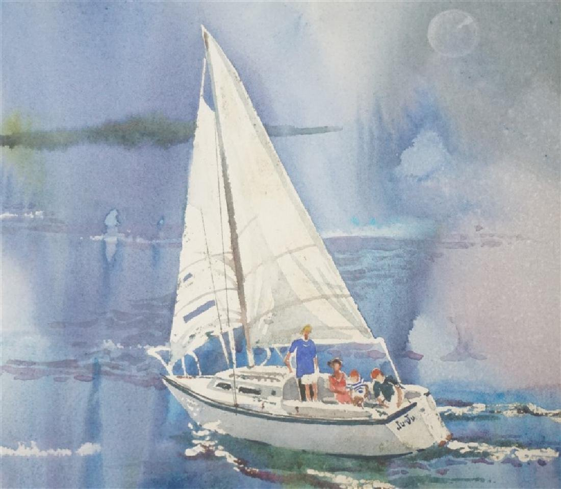 RHETT THURMAN CHARLESTON SAILING WATERCOLOR - 3