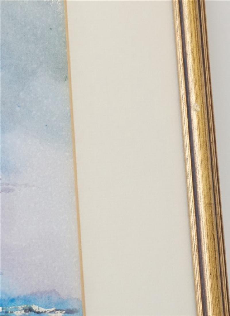 RHETT THURMAN CHARLESTON SAILING WATERCOLOR - 4