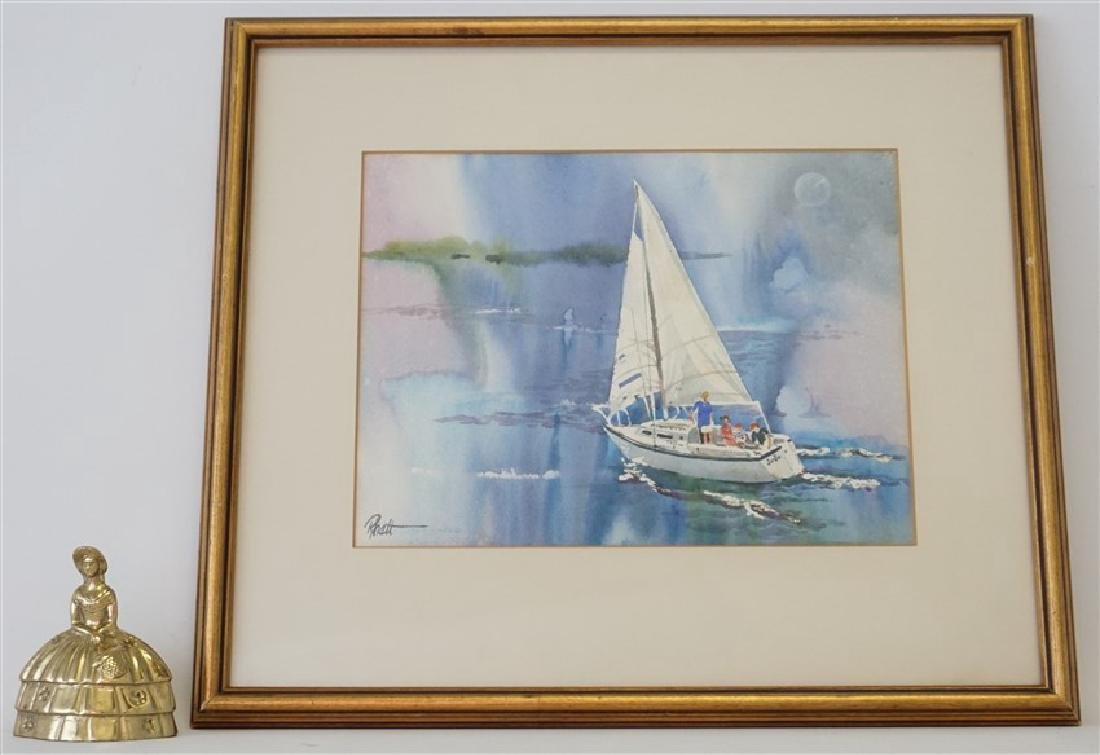 RHETT THURMAN CHARLESTON SAILING WATERCOLOR - 6