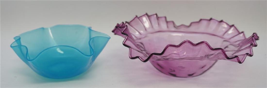 2 CZECH BOHEMIAN GLASS BOWLS