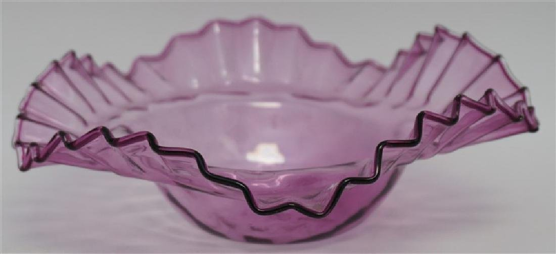 2 CZECH BOHEMIAN GLASS BOWLS - 2
