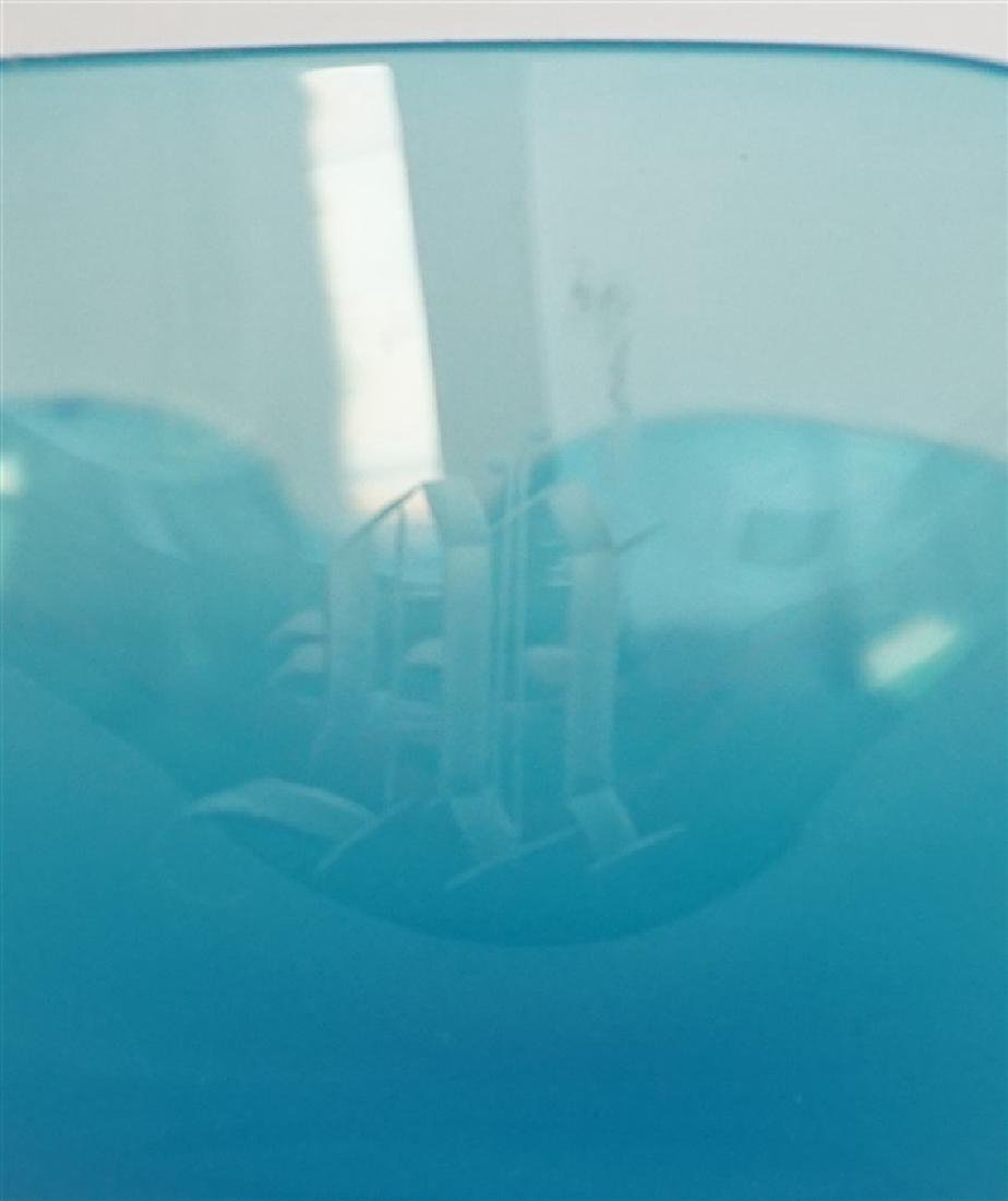 2 CZECH BOHEMIAN GLASS BOWLS - 8