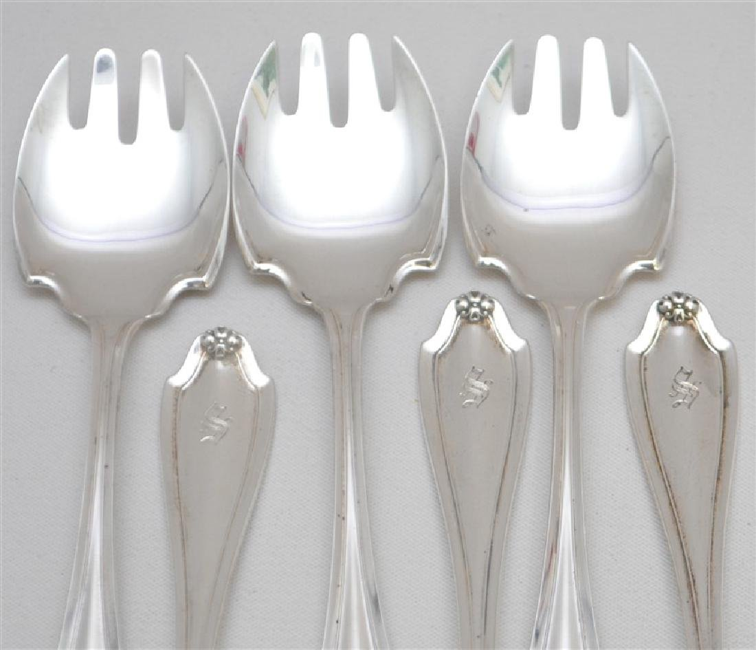 6 WHITING STERLING ICE CREAM FORKS - STRATFORD - 2