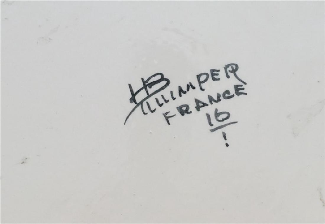 LARGE HENRIOT QUIMPER CHARGER - 9