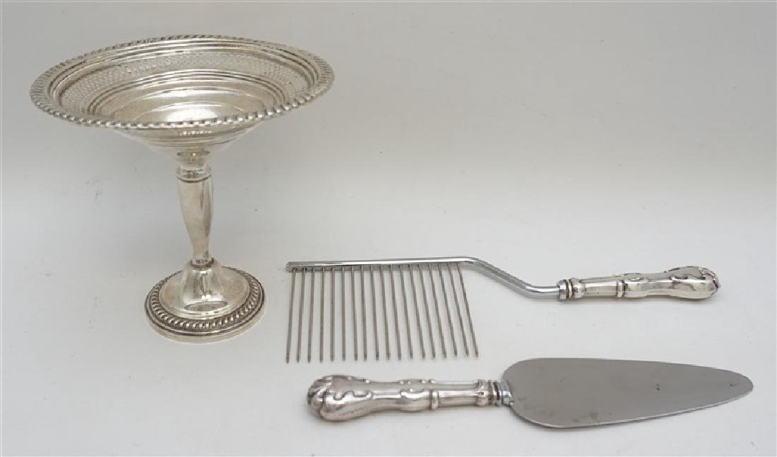 3 pc AMERICAN STERLING SILVER COMPOTE +
