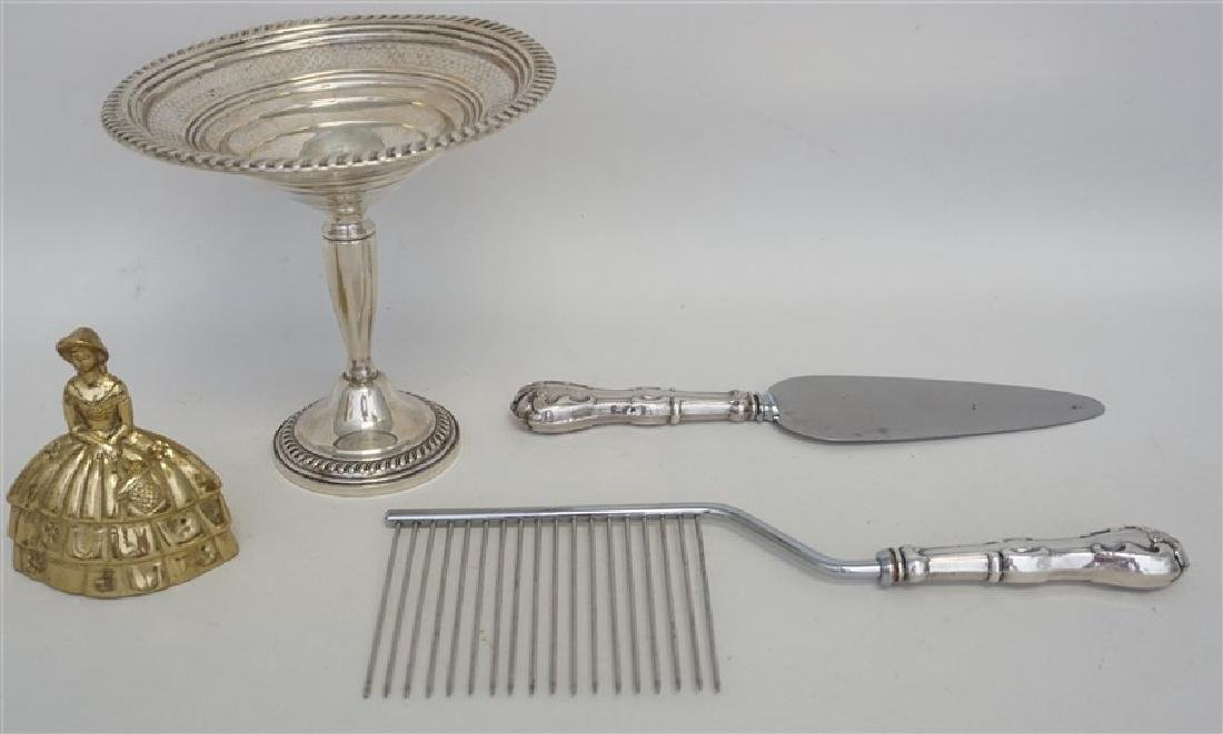 3 pc AMERICAN STERLING SILVER COMPOTE + - 8