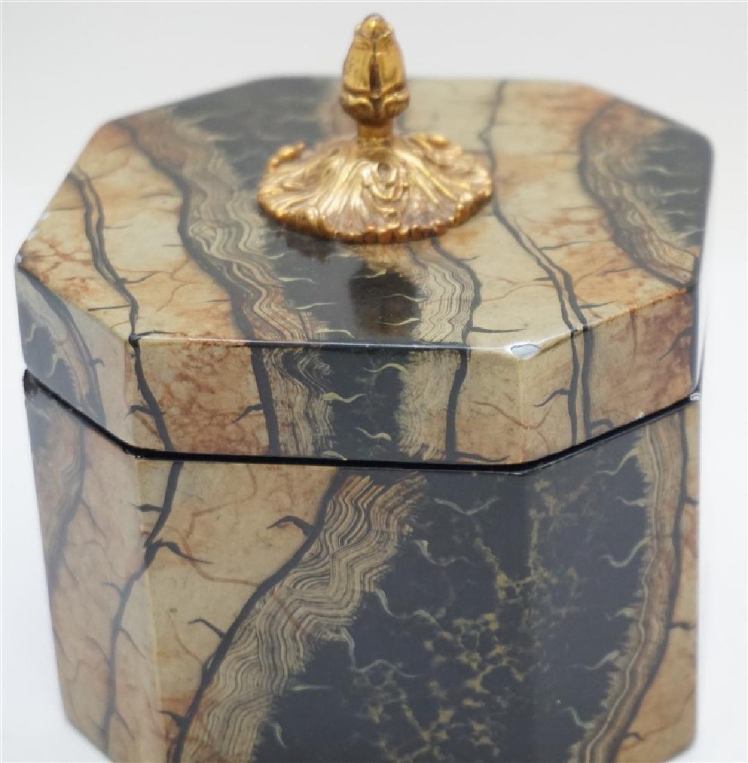 2 MAITLAND SMITH TESSELLATED TEA CADDY BOXES - 3