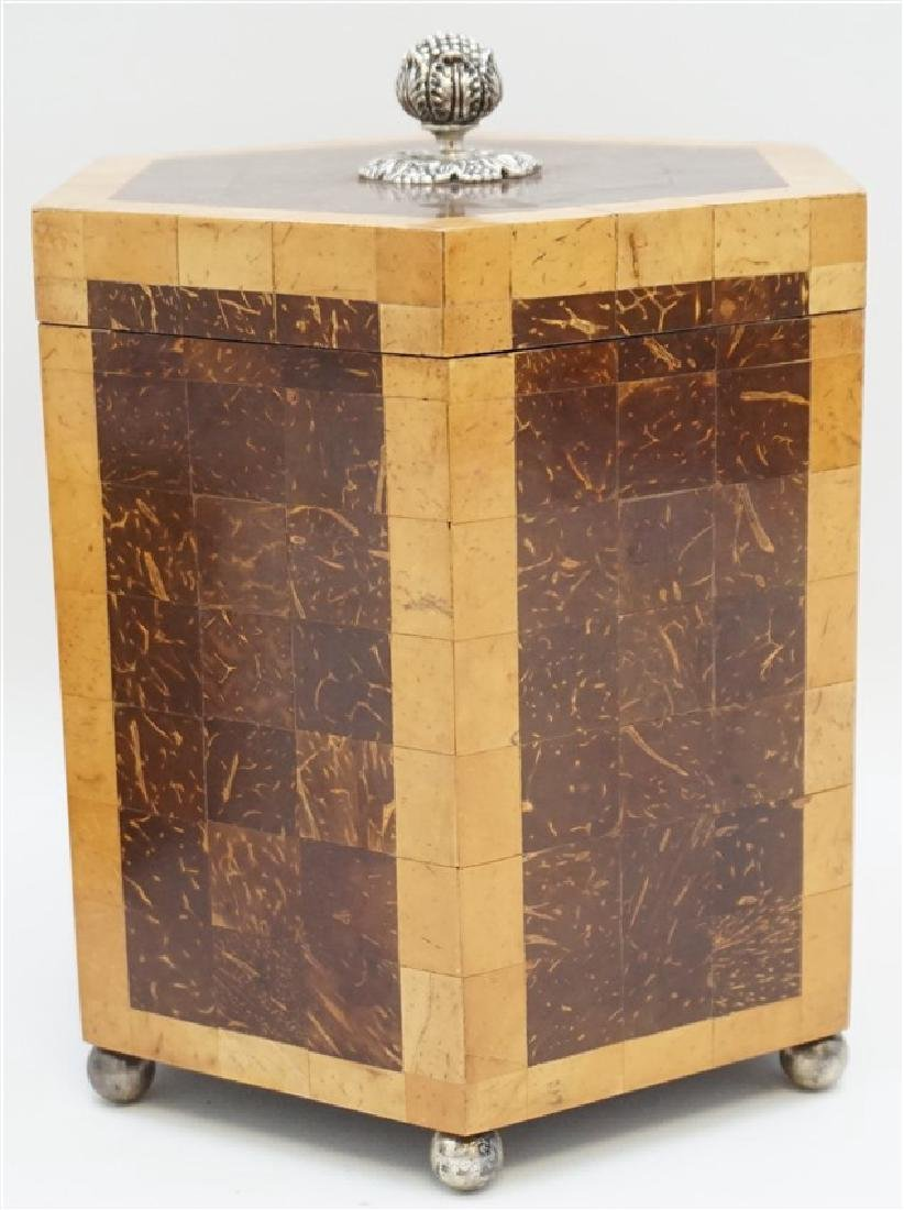 2 MAITLAND SMITH TESSELLATED TEA CADDY BOXES - 4