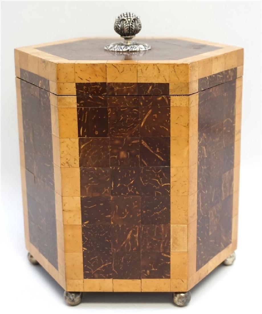 2 MAITLAND SMITH TESSELLATED TEA CADDY BOXES - 5