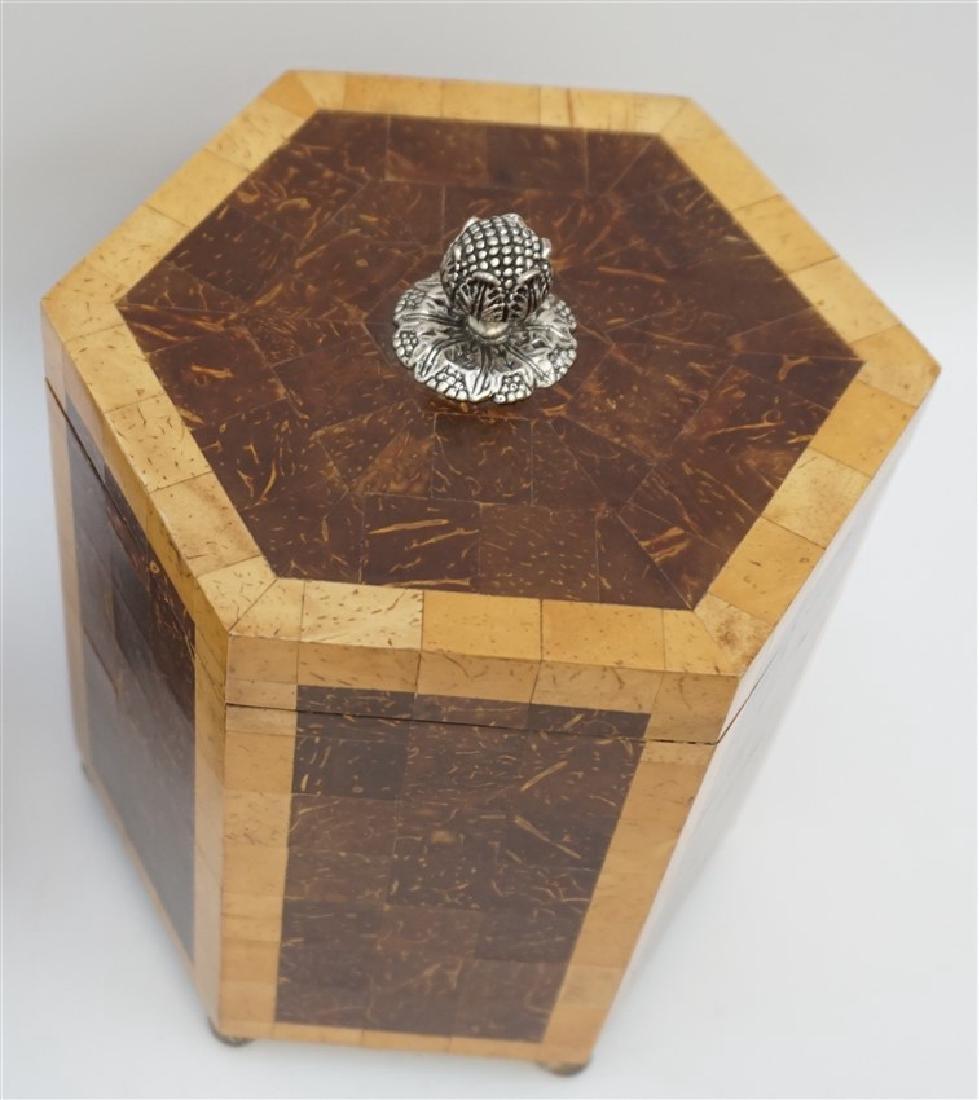 2 MAITLAND SMITH TESSELLATED TEA CADDY BOXES - 6