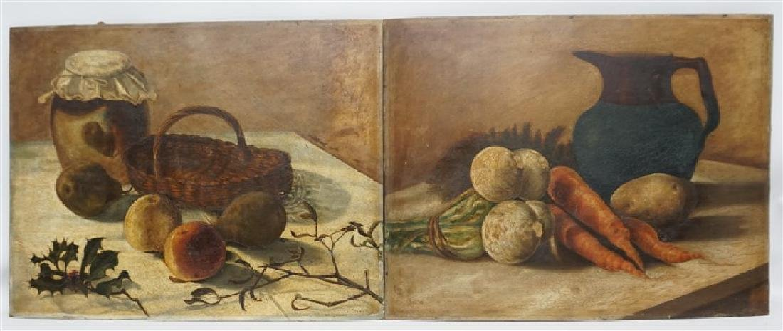 PAIR A. FAUST OIL ON BOARD STILL LIFE