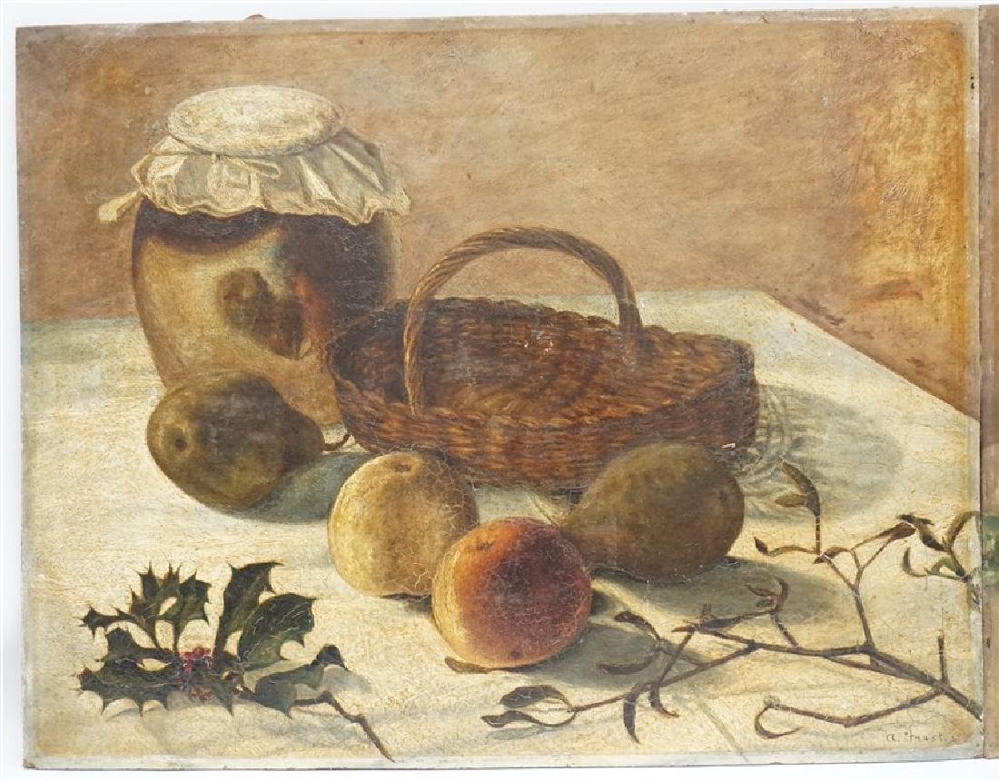 PAIR A. FAUST OIL ON BOARD STILL LIFE - 2