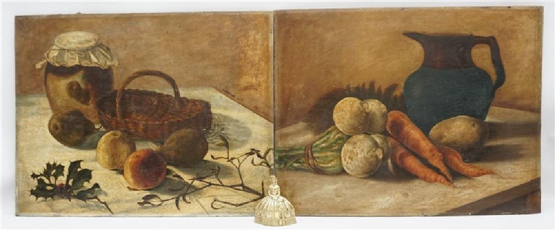 PAIR A. FAUST OIL ON BOARD STILL LIFE - 7