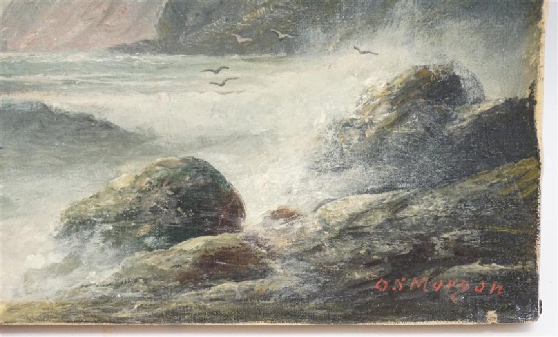 19th c. OIL ON CANVAS COAST OF MAINE - 2