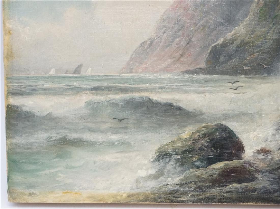 19th c. OIL ON CANVAS COAST OF MAINE - 3