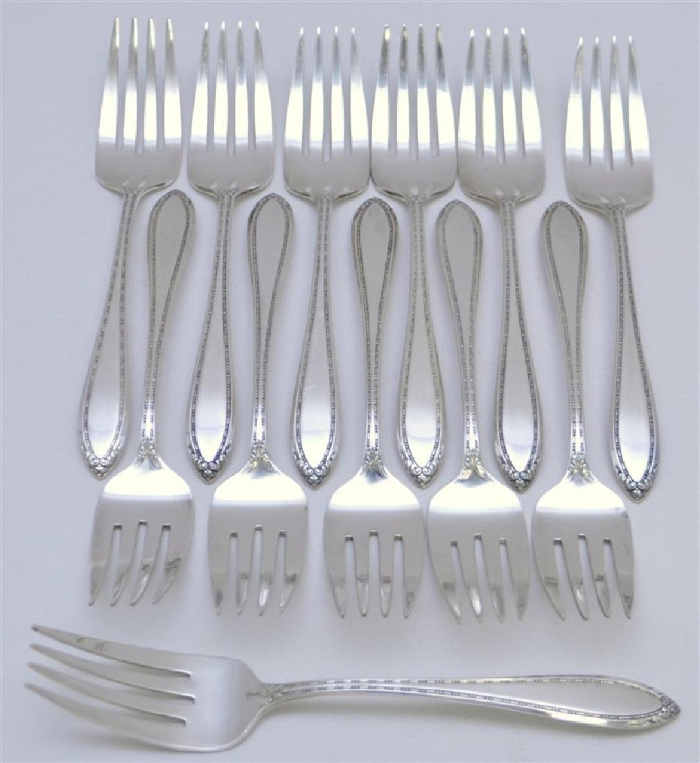 12 STERLING SILVER SALAD FORKS - LADY BETTY