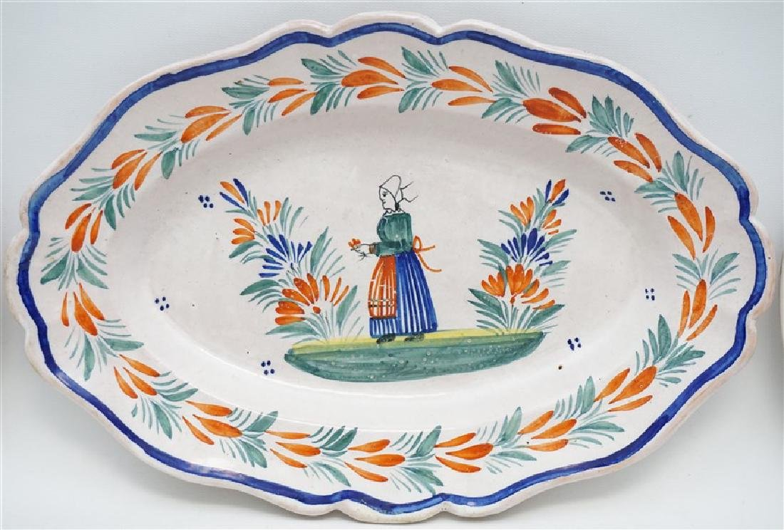 4 PC QUIMPER FRENCH FAIENCE - 3