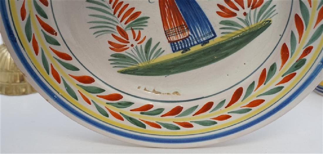 4 PC QUIMPER FRENCH FAIENCE - 6