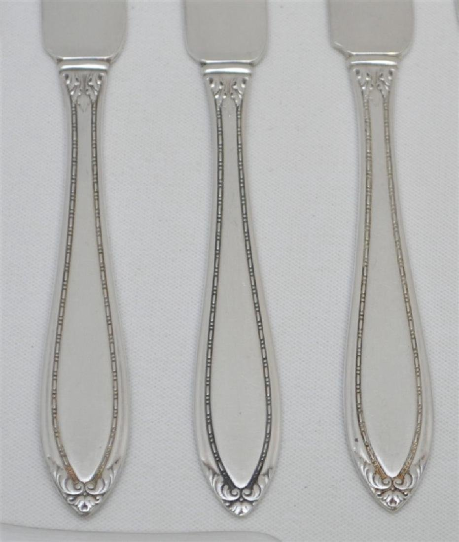12 STERLING SILVER BUTTER PADDLES - LADY BETTY - 2