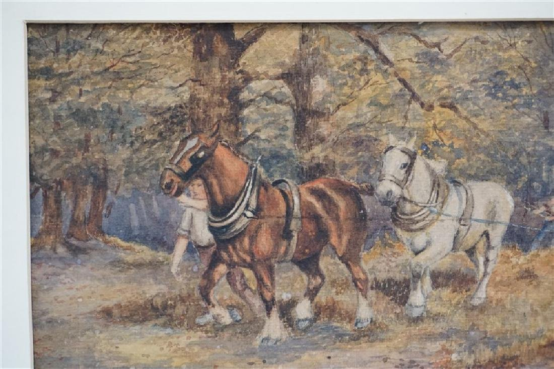 1920s WATERCOLOR T. BUCKLEY HORSES - 6