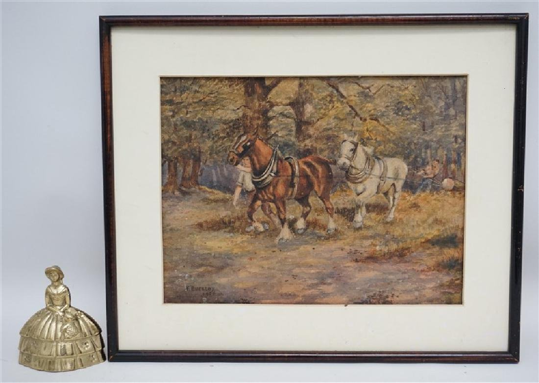 1920s WATERCOLOR T. BUCKLEY HORSES - 7