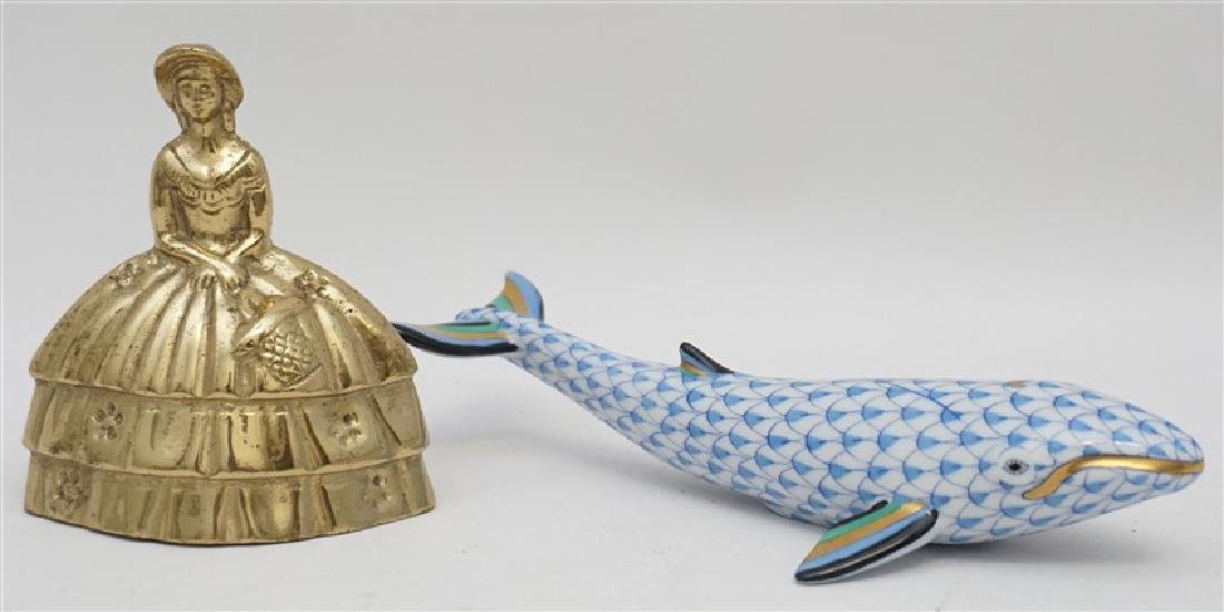 HEREND PORCELAIN BLUE FISHNET WHALE - 7