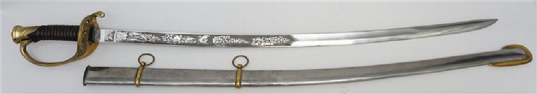 FOOT OFFICER SWORD IN METAL SHEATH