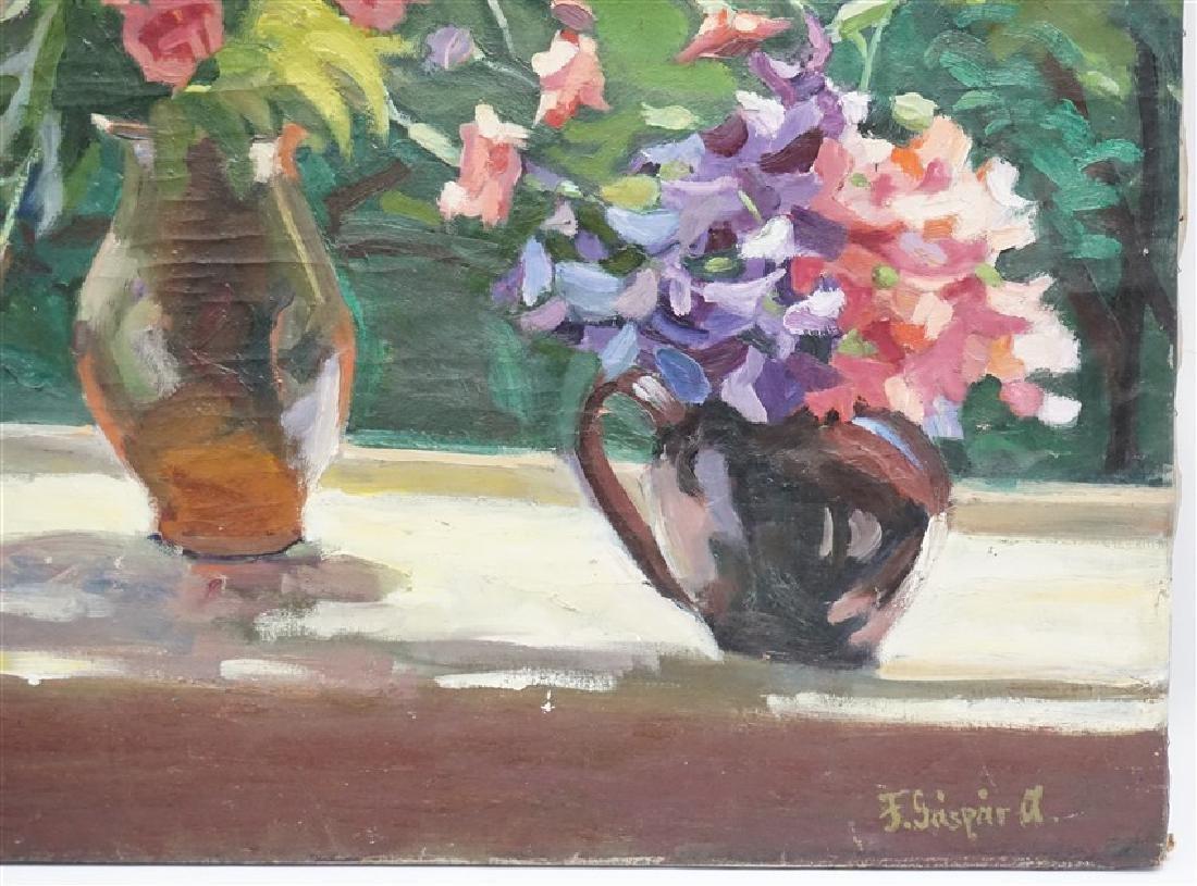 GASPAR ANNI FELEKINE (1902-1992) OIL STILL LIFE - 4
